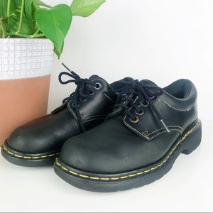 💛 Dr Martens Black Low Cut Boot 4 Eye Size 6